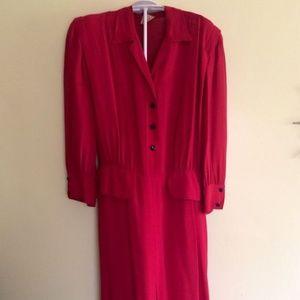 Dresses & Skirts - Red, Dresses, Vintage, Forties